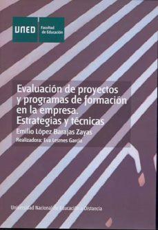 Premioinnovacionsanitaria.es Evaluacion De Proyectos Y Programas De Formacion En La Empresa. E Trategias Y Tecnicas (0150084dv01a01) Image