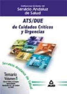 Debatecd.mx Ats-due De Cuidados Criticos Y Urgencias Del Servicio Anadaluz De Salud: Temario (Vol. I) Image