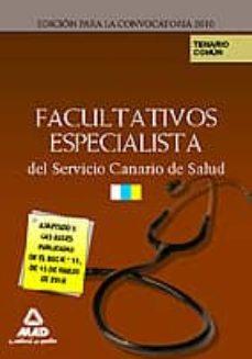Debatecd.mx Facultativos Especialistas Del Servicio Canario De Salud. Temario Image
