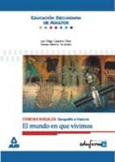 Followusmedia.es Ciencias Sociales: Geografia E Historia (El Mundo En Que Vivimos) (Educacion Secundaria De Adultos) (Eduforma) Image