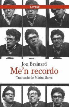 Descargar libros de ipad ME N RECORDO de JOE BRAINARD (Spanish Edition) 9788488839442