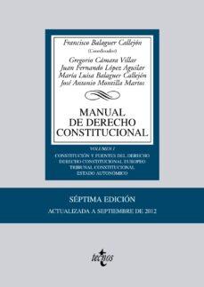 Viamistica.es Manual De Derecho Constitucional (7ª Edición) (Vol I) Image
