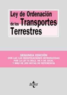 ley de ordenación de los transportes terrestres  (2º e.)-9788430959952
