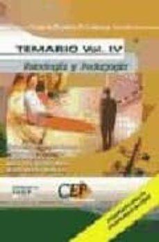 Bressoamisuradi.it Cuerpo De Profesores De Enseñanza Secundaria: Psicologia Y Pedago Gia: Temario (Vol. Iv) Image