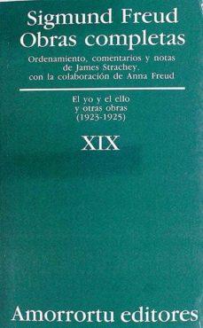 OBRAS COMPLETAS SIGMUND FREUD. VOLUMEN XIX - SIGMUND FREUD |