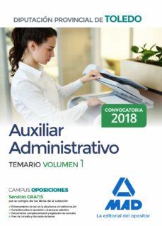 Canapacampana.it Auxiliar Administrativo De La Diputacion Provincial De Toledo: Temario (Vol. 1) Image