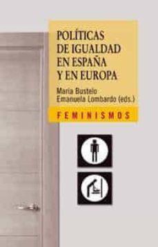 politicas de igualdad en españa y en europa-emanuela lombardo-maria bustelo-9788437623962