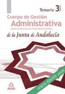 Inmaswan.es Cuerpo Superior De Administradores. Especialidad Administradores De Gestion Financiera (A 1200) De La Junta De Andalucia: Temario (Vol. Iii) Image