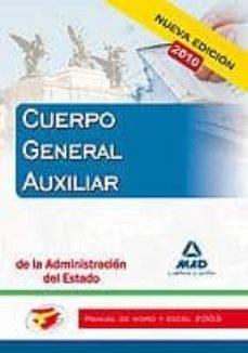 Elmonolitodigital.es Cuerpo Auxiliar De La Administracion Del Estado. Manual De Word Y Excel 2003 Image