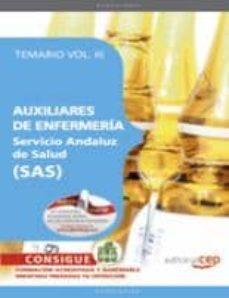Permacultivo.es Auxiliar De Enfermeria (Sas) (Servicio Andaluz De Salud). Temario Vol Iii Image