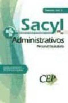 Carreracentenariometro.es Oposiciones Administrativos Personal Estatutario Servicio De Salu D De Castilla Y Leon (Sacyl). Temario Vol. I Image