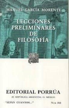 Chapultepecuno.mx Lecciones Preliminares De Filosofia (19ª Ed) Image