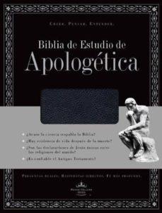 Concursopiedraspreciosas.es Biblia De Estudio De Apologetica, Piel Fabricada, Con Indice (Neg Ro) (Spanish Edition) Image