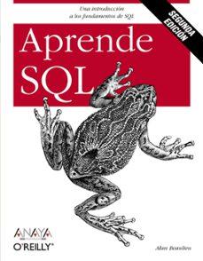 Descargar APRENDE SQL gratis pdf - leer online