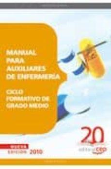 Descargar ebooks para ipod MANUAL PARA AUXILIARES DE ENFERMERIA. CICLO FORMATIVO DE GRADO ME DIO