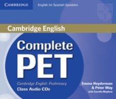 complete pet for spanish speakers. class audio cd s-9788483237472