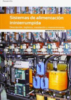 Descargas de libros electrónicos de Amazon para iphone SISTEMAS DE ALIMENTACION ININTERRUMPIDA (Literatura española) de ANTONIO MENACHO VILLA