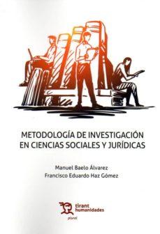 Libros en formato pdf descarga gratuita. METODOLOGIA DE INVESTIGACION EN CIENCIAS SOCIALES Y JURIDICAS