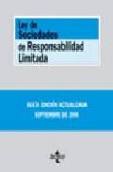 Emprende2020.es Ley De Sociedades De Responsabilidad Limitada (6ª Ed.) (Bibliotec A De Textos Legales Nº 182) Image