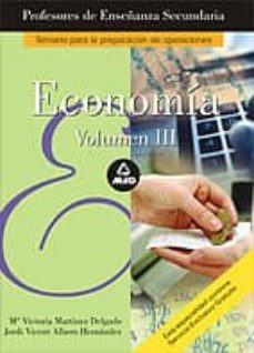 Costosdelaimpunidad.mx Cuerpo De Profesores: Enseñanza Secundaria: Economia (Vol. Iii) Image