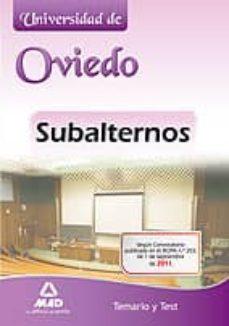 Iguanabus.es Subalternos De La Universidad De Oviedo. Temario Y Test Image