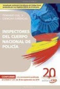 Eldeportedealbacete.es Inspectores Del Cuerpo Nacional De Policia Ciencias Juridicas: Te Mario Vo. Ii Image