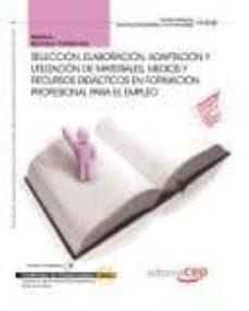 Costosdelaimpunidad.mx Manual Seleccion, Elaboracion, Adaptacion Y Utilizacion De Materi Ales, Medios Y Recursos Didacticos En Formacion Profesional Para El Empleo Image