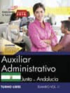 Javiercoterillo.es Auxiliar Administrativo (Turno Libre). Junta De Andalucía. Temario Vol. Ii. Image