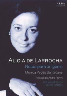 alicia de larrocha. notas para un genio (incluye cd)-monica pages santacana-9788490652282
