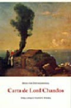carta de lord chandos-hugo von hofmannsthal-9788497164382