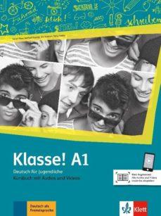 Libros gratis para descargar desde google books KLASSE! A1 LIBRO DEL ALUMNO+AUDIO+VIDEO 9783126071192 in Spanish PDB iBook