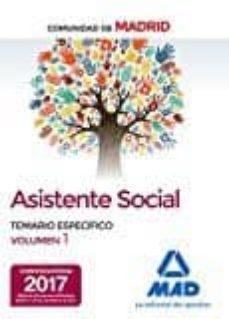 asistentes sociales de la comunidad de madrid temario especifico volumen 1-9788414206492