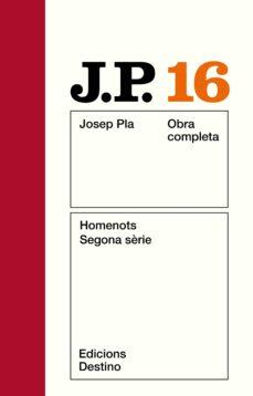 homenots, segona serie-josep pla-9788423305292