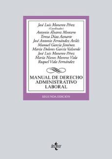 manual de derecho administrativo laboral (2ª ed.)-jose luis monereo perez-9788430969692