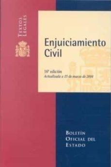 Encuentroelemadrid.es Enjuiciamiento Civil (16ª Ed.)(actualizada A 15 De Marzo De 2004) Image