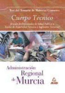Canapacampana.it Cuerpo Tecnico De La Administracion Regional De Murcia: Test Tema Rio Materias Comunes Image