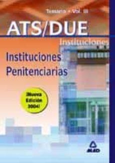 Permacultivo.es Ats/due Instituciones Penitenciarias: Temario (Vol. Iii) Image