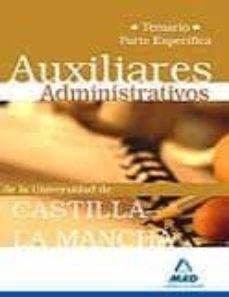 Permacultivo.es Auxiliares Administrativos De La Universidad De Castilla-la Manch A. Temario Parte Especifica Image