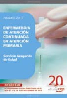 Elmonolitodigital.es Enfermero/a De Atencion Continuada En Atencion Primaria. Servicio Aragones De Salud. Temario Vol. I. Image