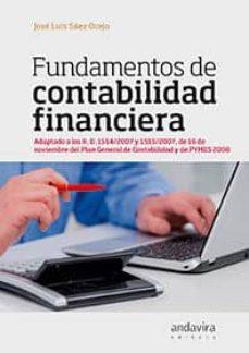 fundamentos de contabilidad financiera-jose luis saez ocejo-9788484088592