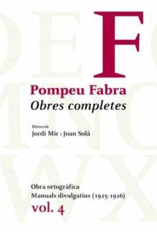 Costosdelaimpunidad.mx Pompeu Fabra: Obres Completes Vol. 4 Image