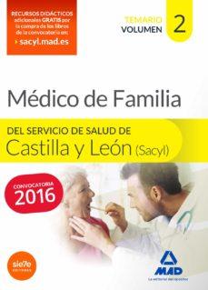 médico especialista en medicina familiar y comunitaria del servicio de salud de castilla y león (sacyl). temario volumen ii-9788490933992