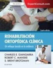 Descargar libros electrónicos gratis para nook REHABILITACION ORTOPEDICA CLINICA 4ª ED in Spanish de C.E. GIANGARRA