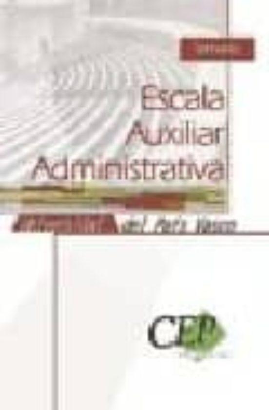 TEMARIO AUXILIAR ADMINISTRATIVO DE LA UNIVERSIDAD DEL PAIS VASCO