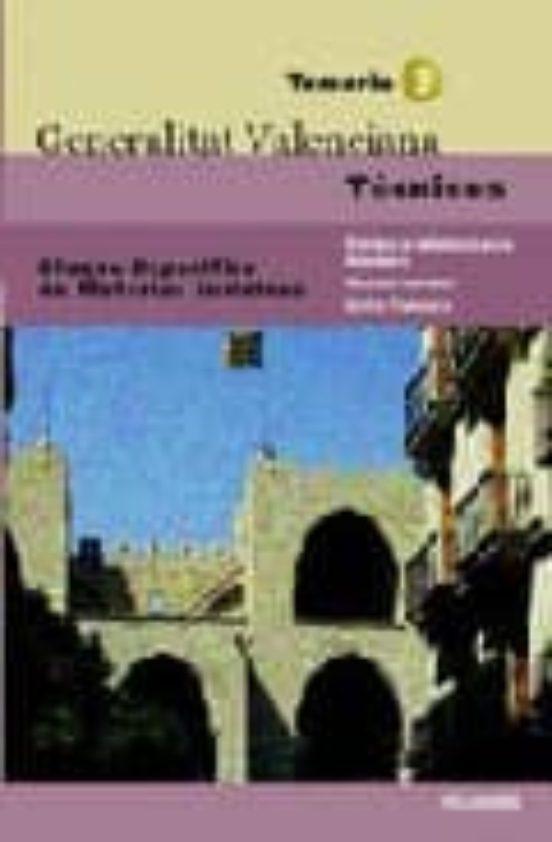 TECNICOS DE LA GENERALITAT VALENCIANA: TEMARIO 3