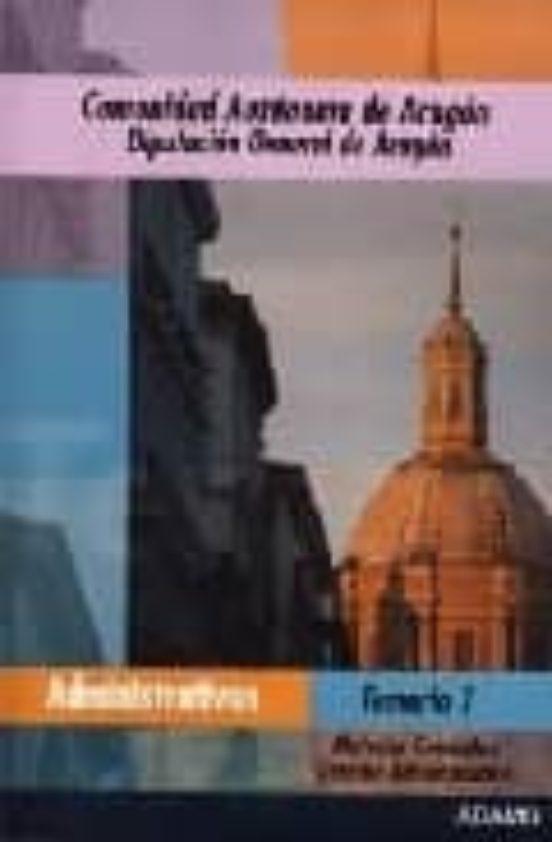 ADMINISTRATIVOS DIPUTACION GENERAL DE ARAGON: TEMARIO 1