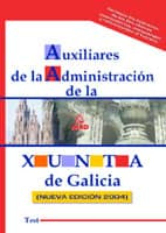 AUXILIARES ADMINISTRATIVOS DE LA XUNTA DE GALICIA. TEST
