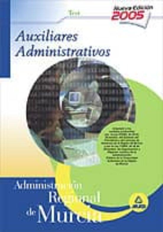 AUXILIARES ADMINISTRATIVOS DE LA COMUNIDAD AUTONOMA DE MURCIA: TE ST