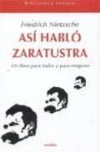 ASI HABLO ZARATUSTRA + #2#NIETZSCHE, FRIEDRICH#1288#