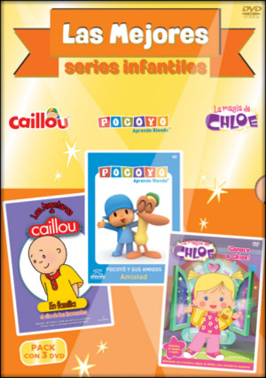 pack mejores series infantiles: pocoyo amistad + caillou..(dvd)-8420266000491